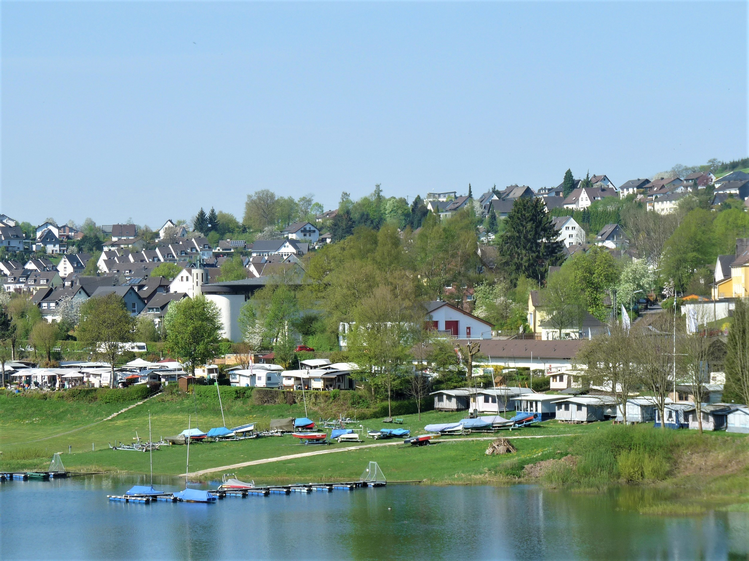Lantenbach - Bootfahren auf der Aggertalsperre