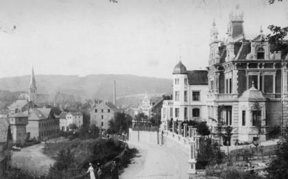 Großbürgerliche Villen an der Bergstraße (um 1900)