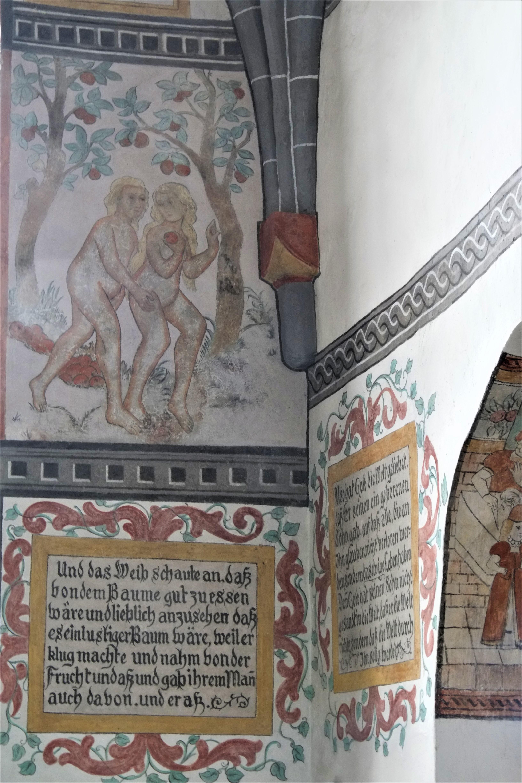 Bunte Kirche Lieberhausen - Darstellung des Sündefalls