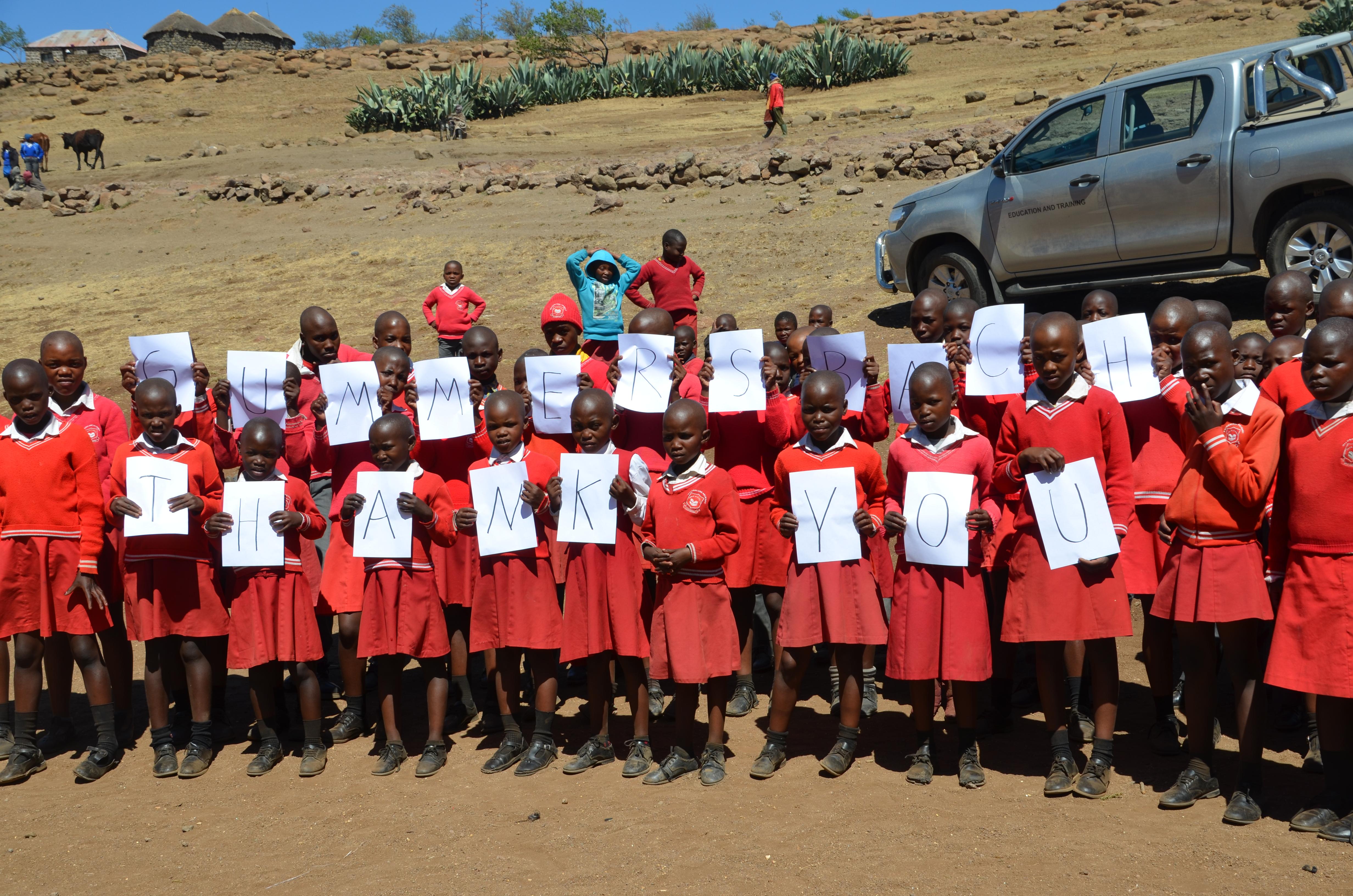 Viele Kinder in Lesotho freuen sich über die Unterstützung aus Gummersbach. (Foto: Klaus Bech)