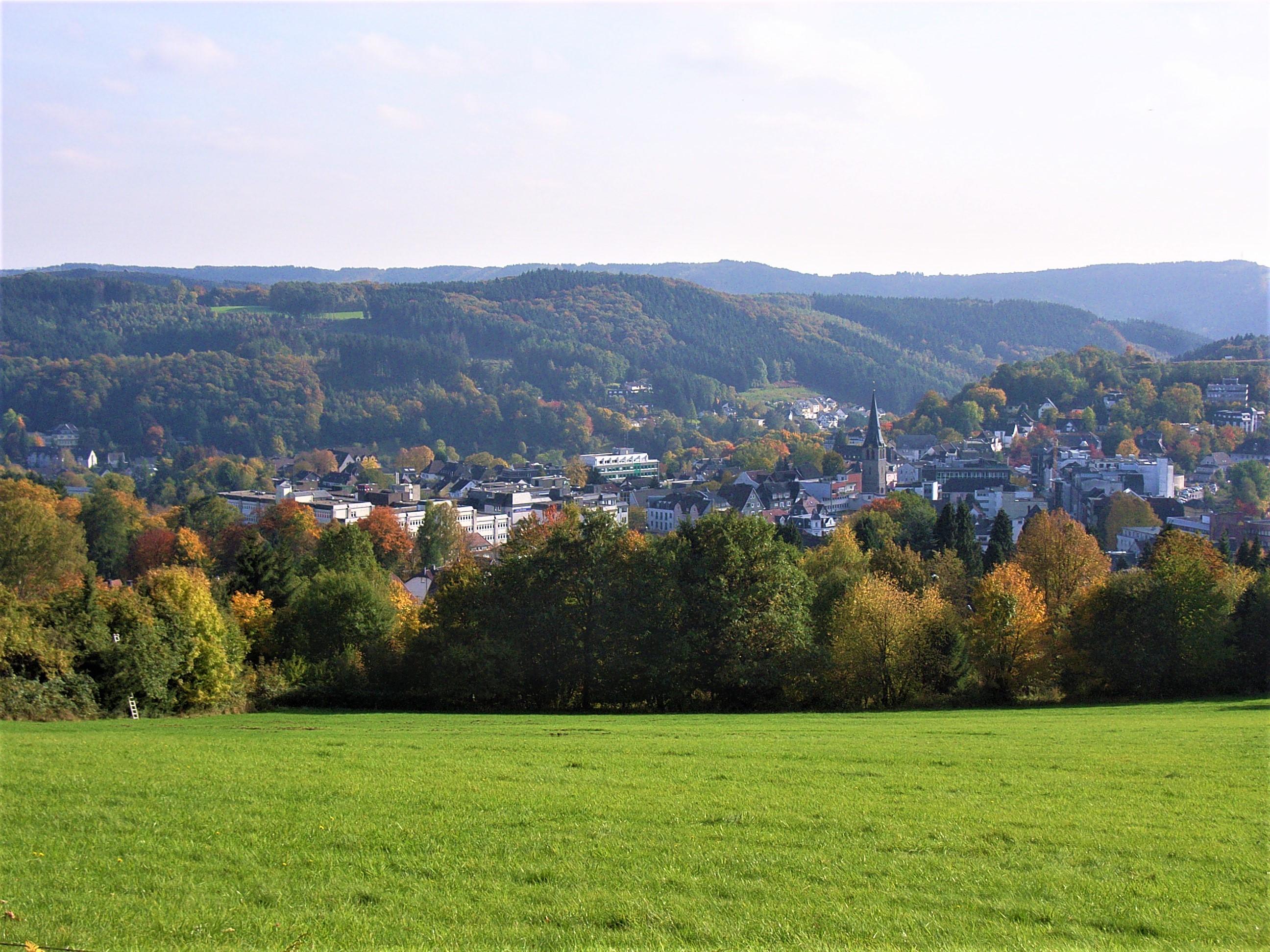 Innenstadt, Blick vom Kerberg im Oktober