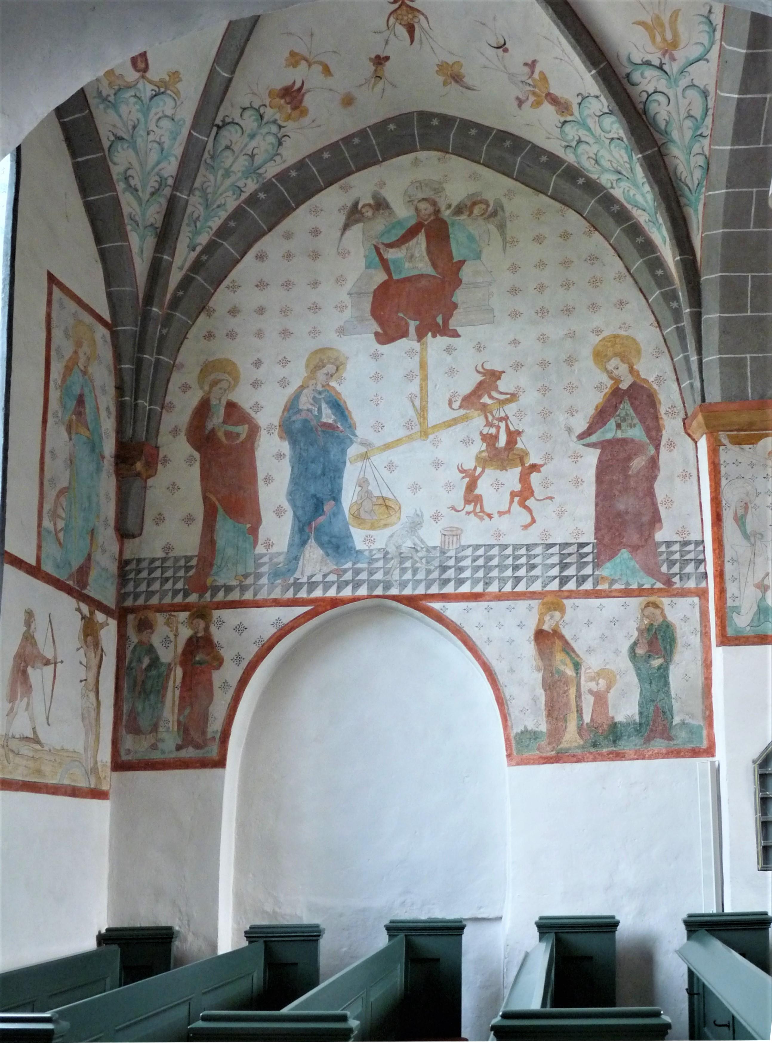 Bunte Kirche Lieberhausen - Darstellung der Seelenwaage