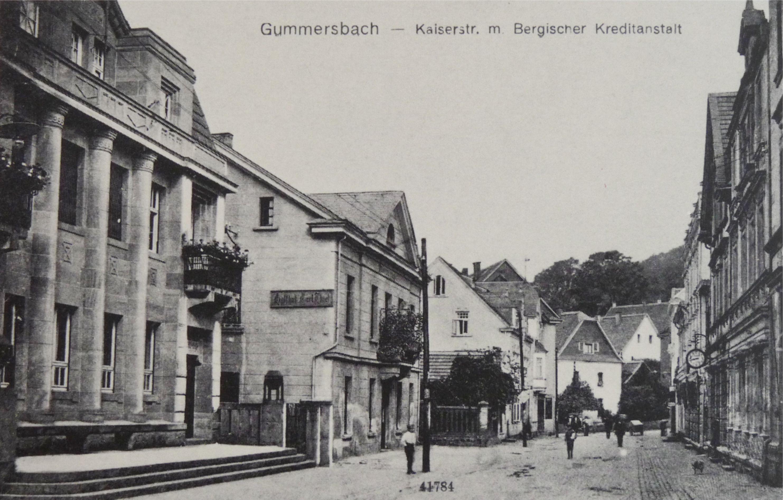 Historische Postkarte - Blick in die Kaiserstraße Richtung Kerberg, Sammlung Woelke