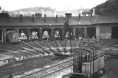 Der Lok-Schuppen des Bahnhofs Dieringhausen (um 1920)