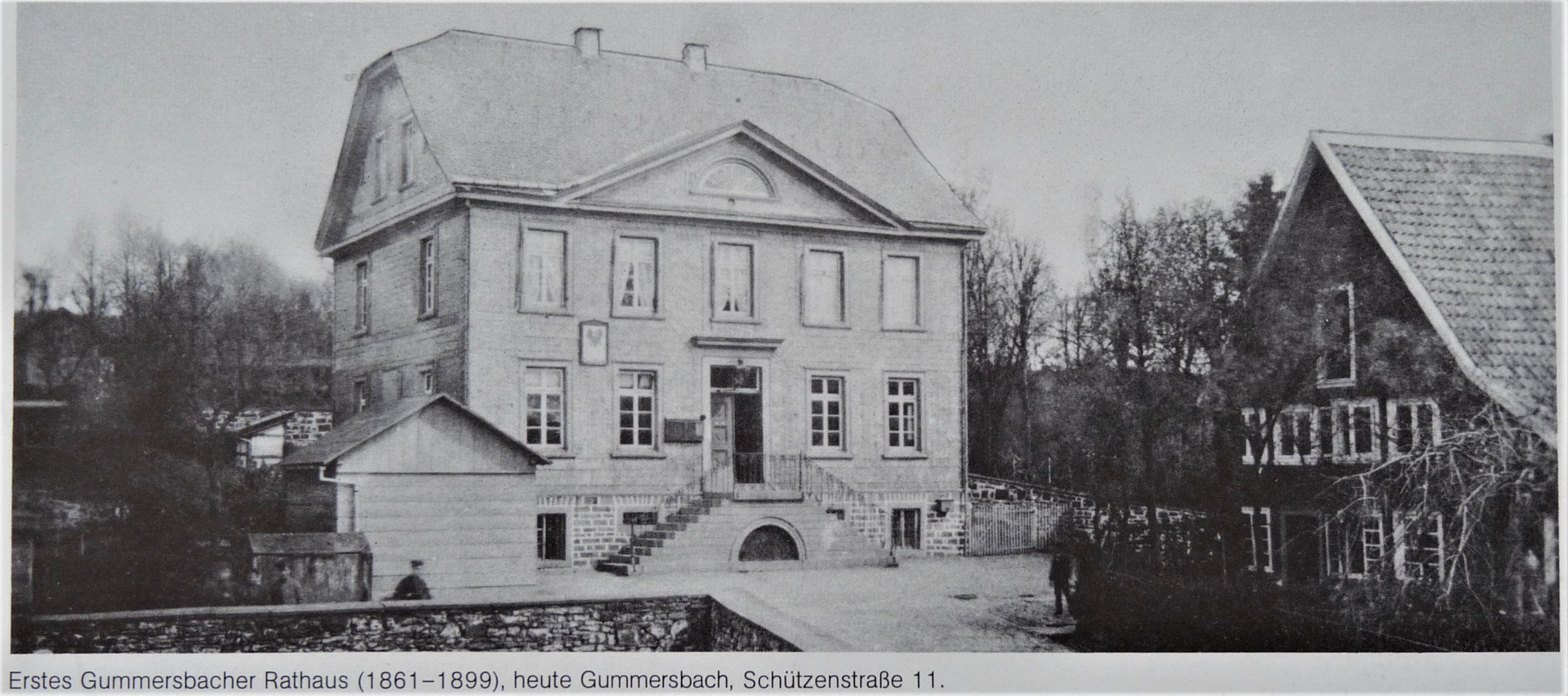 Historische Aufnahme - Erstes Rathaus (1861 - 1899), heute Schützenstraße 11
